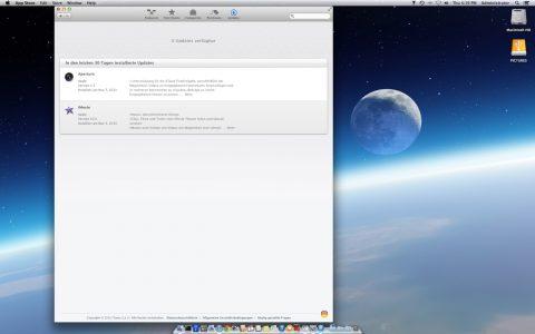 Bild: Nach der Umstellung der Sprache auf Englisch und der Region auf Vereinigte Staaten erkennt Softwareupdate die aktuelle Version von Apple Aperture 3.5 und sie können diese installieren.