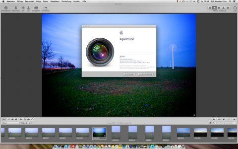 Bild: Apple Aperture 3.5 ist nun auf Ihrem Mac installiert.