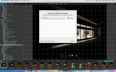 Bild: DxO Optics Pro 9.1 erkennt die Kombination von OLYMPUS OM-D E-M5 und dem Objektiv M.Zuiko Digital ED 12-50mm 1:3.5-6.3 EZ problemlos. Das entsprechende Modul kann nachgeladen werden.