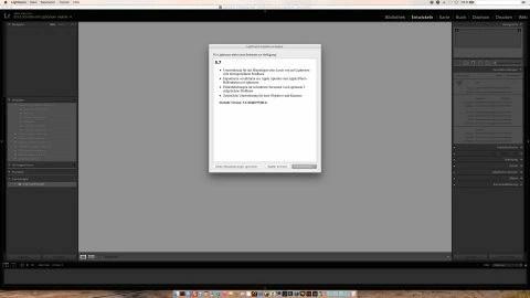 Bild: Seit einigen Tagen steht Adobe Lightroom in der Version 5.7 zur Verfügung. Hier die Suche nach Programmupdates in der version 5.6 unter Mac OS X 10.10.