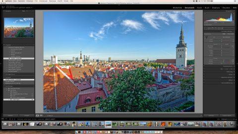 Bild: Eine importierte iPhoto Bibliothek in Adobe Photoshop Lightroom 5.7.