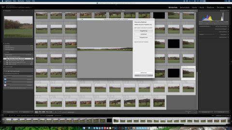 Bild: Das Vorschaubild ist aus Performancegründen erst einmal noch in Breite und Höhe verkleinert. Auf dem Monitor kann man aber schon einmal gut das Ergebnis beurteilen.