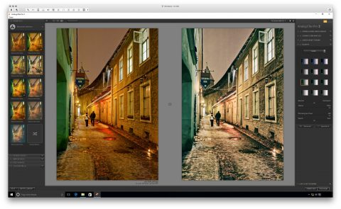 Bild: Google Nik Collection - Analog Efex Pro 2 unter Windows 10. Links das Originalfoto im Format JPEG. Rechts das nachbearbeitete Foto im Format JPEG.