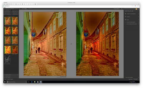 Bild: Google Nik Collection - HDR Efex 2 unter Windows 10. Links das Originalfoto im Format JPEG. Rechts das nachbearbeitete Foto im Format JPEG.