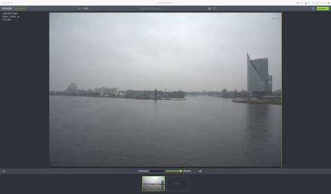 Bild: Die Software Photolemur 1.0 unter macOS 10.12.04. Das unbearbeitete Foto im RAW Format.