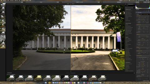 Bild: Skylum Luminar 3. Dieses Programm bietet die Möglichkeit, das Originalfoto mit dem nachbearbeiten Foto zu vergleichen. Klicken Sie auf das Bild um es zu vergrößern.