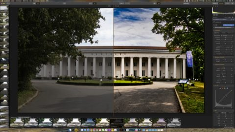 Bild: Skylum Luminar 3. Vorschau des Originalbildes und des bearbeiten Bildes. Klicken Sie auf das Bild um es zu vergrößern.