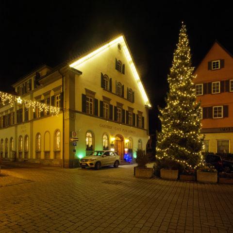 Bild: Blaubeuren Altstadt. Das Hotel zum Löwen. Klicken Sie auf das Bild um es zu vergrößern.