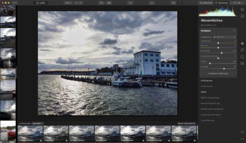 """Bild: Skylum Luminar 4. Schon der """"Essential"""" Look wertet Fotos deutlich auf. Klicken Sie auf das Bild um es zu vergrößern."""