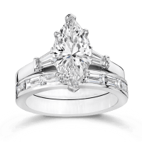 Cubic Zirconia Rings   2.5 Ct. Marquise 14K Wedding Set ...