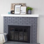 Paint Your Brick Fireplace in 2 Easy Steps!