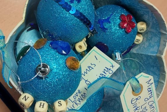 Handmade Baubles for the NHS