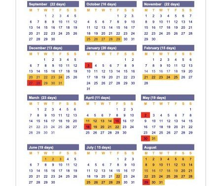 Term Dates and Holidays 2021-22