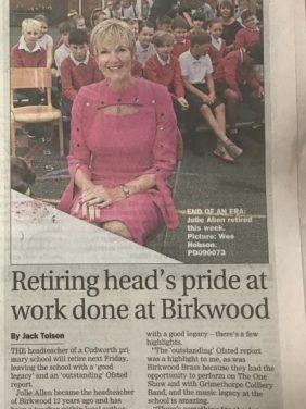 Goodbye, Mrs Julie Allen MBE