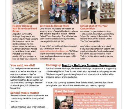 Schools Catering Service – Parent newsletter