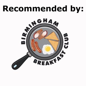 Recommended by Birmingham Breakfast Club - white background