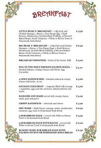 Old Dresser Cafe Full English Breakfast Menu - Bearwood