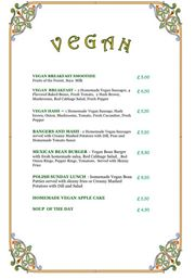 Old Dresser Cafe Full English Vegan Breakfast Menu - Bearwood