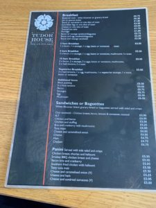 Tudor House Bakery - Tamworth - Menu