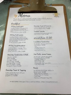 Honey Pot Tea Room - Breakfast Menu