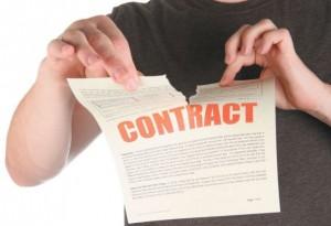 renuntare la contract
