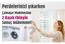 Photo of Perdeleri yıkarken Çamaşır Makinesine 2 Kaşık Ekleyin sonuç mükemmel!
