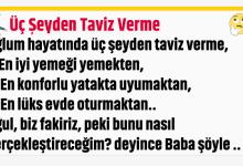 Photo of Üç Şeyden Taviz Verme