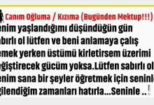 Photo of CANIM OĞLUMA – KIZIMA…BUGÜNDEN MEKTUP!