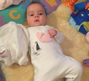 Cosy baby on blanket – Birth, Baby & You – Dee Bell – Lactation Consultant for Kent, Surrey & Sussex