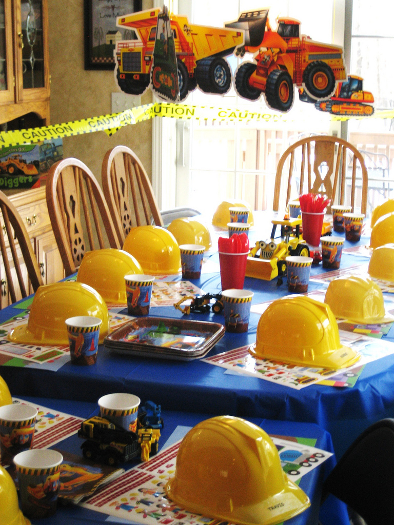 Construction Theme Party  Kids Birthday Parties