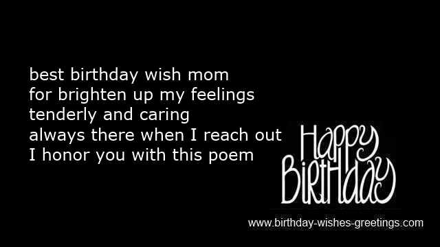 Mother Birthday Poems On Card Or Funny Wishes And Greetings