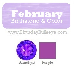 February Birthstone and Color