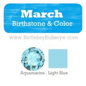 March Birthstone and Color