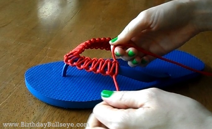 Paracord Flip Flop Step 4
