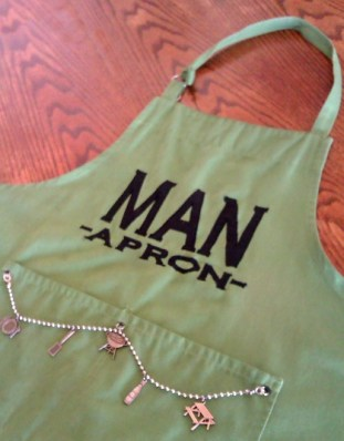 Man Apron for BBQ Birthday Gift Basket