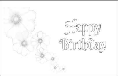 Cherry Blossom Printable Birthday Card Image