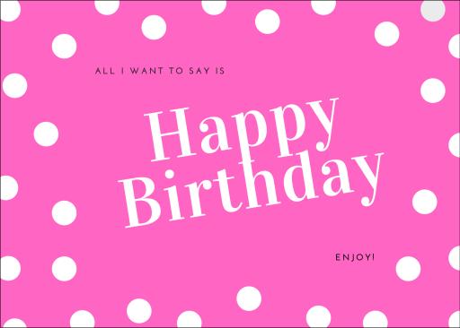 Polka Dot Birthday Card Image