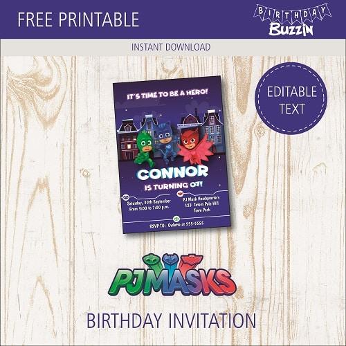 free printable pj masks birthday