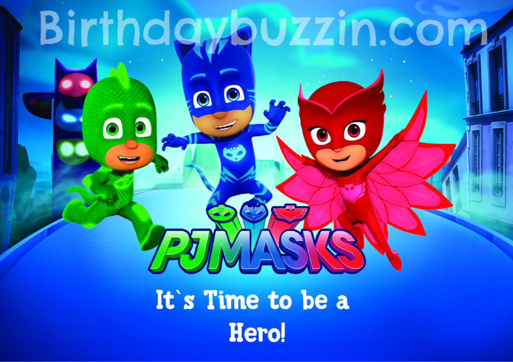 Free Printable PJ Masks Placemats Birthday Buzzin