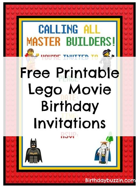 zguzvao progresivan stala lego birthday invitations