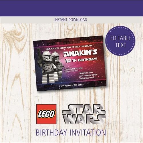 free printable lego star wars birthday