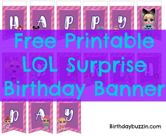 Lol Surprise Birthday Banner
