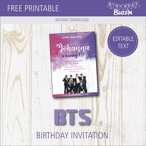 free printable bts birthday