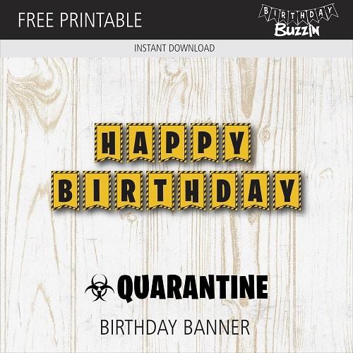 quarantine birthday party printables