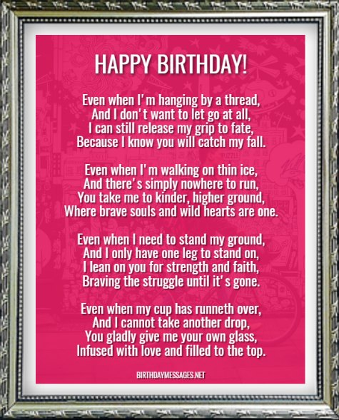 Birthday Poems My Dad