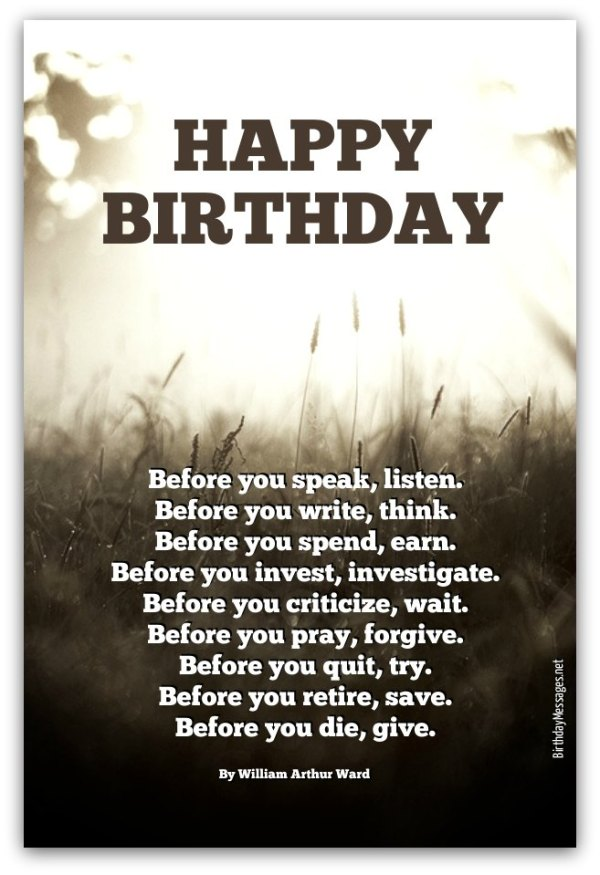 Inspirational Birthday Poems Page 2