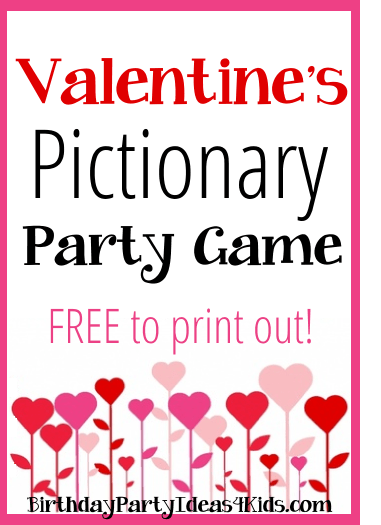Valentines Day Pictionary Party Game