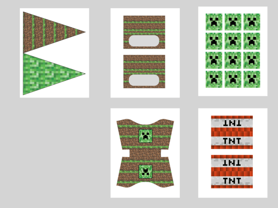 Free Minecraft Creeper Party Printable Birthday Party