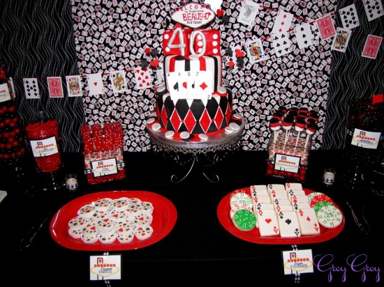40th Las Vegas Casino Birthday Party  Birthday Party Ideas  Themes