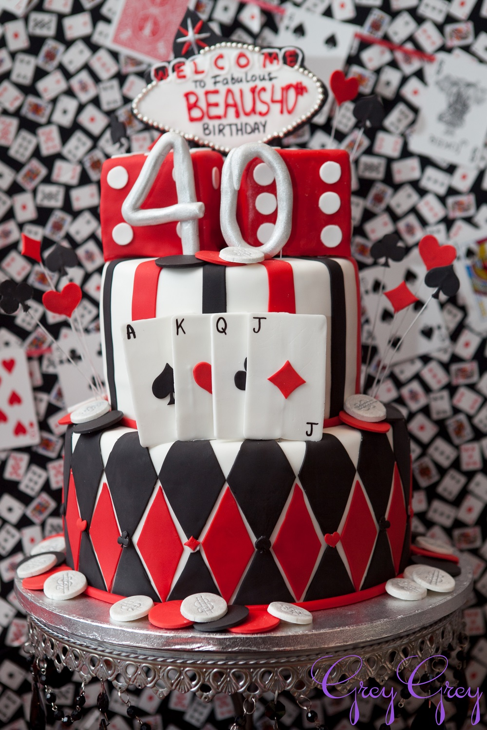 Poker Table Cake Ideas